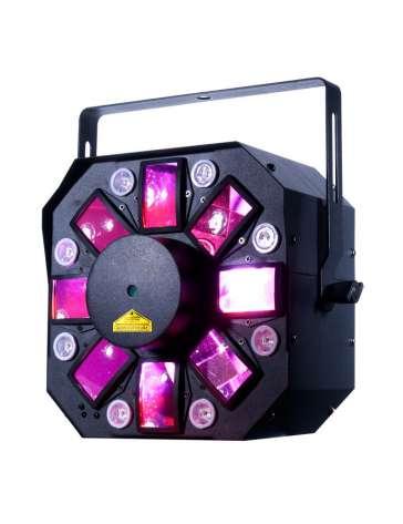 "EFFET 3 EN 1 STINGER II MOONFLOWER RGBWAP, STROB,LASER ""AMERICAN DJ"" DMX"