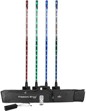 "PACK DE 4 TUBES LED 32SMD FD-STICK-PACK ""CHAUVET"" DMX"