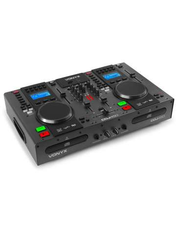 DOUBLE LECTEUR CDJ450 VONYX CD/MP3/USB/MIXEUR/BT