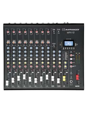 CONSOLE DE MIXAGE MPX12 AUDIOPHONY 12 CANAUX, EFFETS, LECTEUR USB/SD/BT