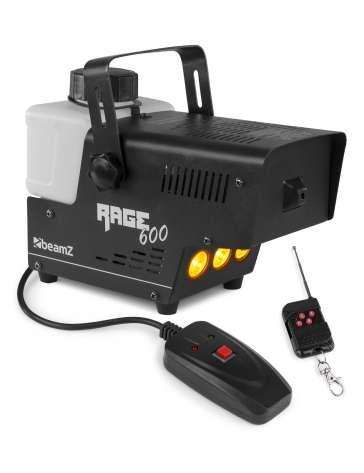 MACHINE A FUMEE A LED RAGE600LED BEAMZ AVEC CONTROLEUR SANS FIL