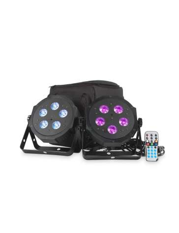 "VPARPAK ""ADJ"" LOT DE 2 PROJECTEURS A LED 5X4W RBGA"